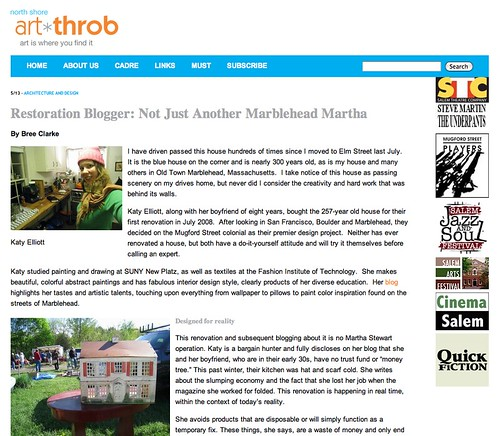 North Shore Art Throb Article About Me