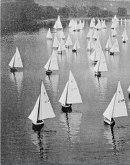 1956 model yachts on the water Czechoslovakia (oldsailro) Tags: park old boy sea summer people sun lake playing beach water pool girl sunshine youth sailboat race vintage river children fun toy boat miniature wooden pond model waves sailing ship child time yacht antique group boom mat regatta hull spectators watercraft adolescence keel fashioned czexhoslovakia