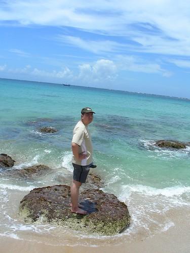 白砂沙灘-與老公