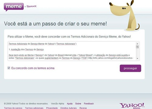 Termos Adicionais - Yahoo! Meme