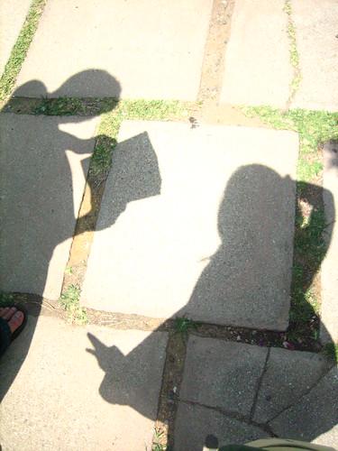 Shadows posing