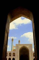 eivan-masjed shah (Damon V.M.) Tags: iran minaret mosque esfahan achitecture islamic isfahan masjed eivan