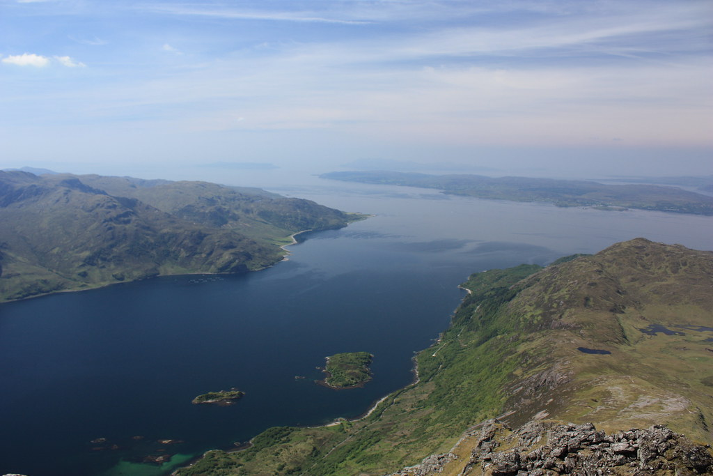 Looking out over Loch Hourn