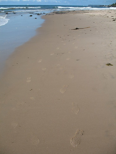 Our footprints in the sand