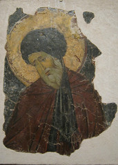 Fragment from a Wall Painting of a Koimesis Depicting Saint John of Damascus (peterjr1961) Tags: nyc newyorkcity ny newyork medieval byzantine themet metropolitanmuseumofart