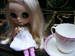 Let's have a tea party... (Millie Maloo) Tags: charity cup tea lola blythe saucer teaparty adg pleasantpeasant