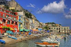 Capri (antothefly) Tags: sea panorama landscape island capri italia mare napoli hdr isola