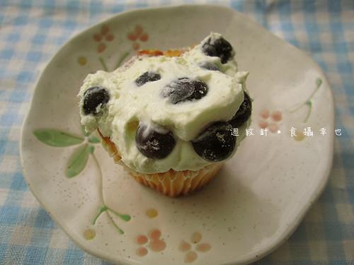 克勞蒂杯子蛋糕藍莓女王