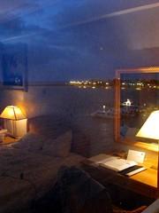 Water Bed (NigelDurrant) Tags: ocean light sea sky reflection window water lamp boats hotel mirror coast desk background belize room picture double belizecity hotelroom centralamerica princesshotel colorsofthenight
