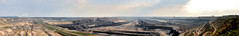 Tagebau Garzweiler 180° panorama 21Mpx (Lennert van den Boom) Tags: d50 germany nikon mine nordrheinwestfalen tagebau excavator bagger bwe garzweiler northrhinewestphalia rwe openpitmine lignite schaufelradbagger bucketwheelexcavator dagbouw