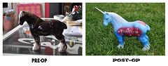 Tarquin the Gay Unicorn (id-iom) Tags: uk england urban horse london art grass stencil pub paint vandalism spraypaint horn unicorn brixton idiom