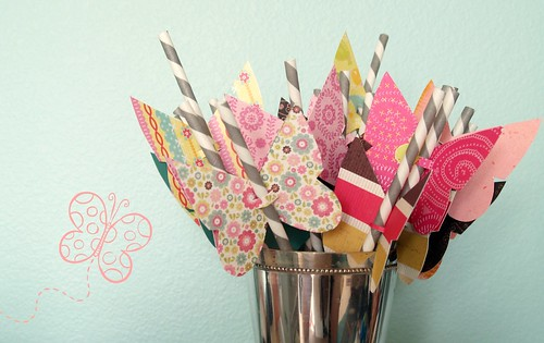 Butterfly Birthday Straws