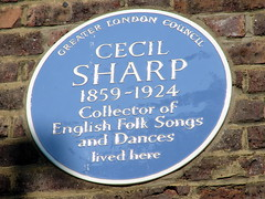 Photo of Cecil Sharp blue plaque