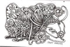 Craft Drawer (molossus, who says Life Imitates Doodles) Tags: journal zentangle zendoodle zentangleinspiredart