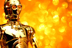 """The first duty in life is to be as artificial as possible."" (JD Hancock) Tags: favorite macro yellow fun toy actionfigure star starwars action bokeh explore cc figure scifi wars portfolio popular c3po 1k scientific theotherside oscarwildequotes inkitchen macromondays jdhancock"