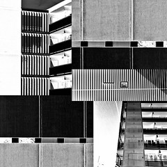 collage (henk hessel photography) Tags: geometric lines collage architecture buildings blackwhite pattern graphic perspective repetition abstraction appartment invert