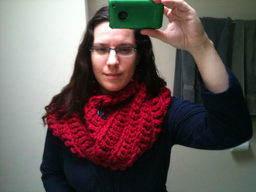 Full view of red cowl