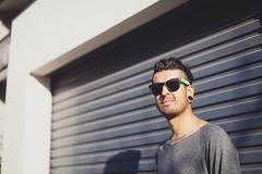 {Jacob} (Robert Meredith Photography) Tags: shadow sun sunglasses cool jacob garage sydney australia funky surryhills goldenhour diagonals converginglines colombiaportrait