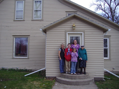 The Clyde Family outside their newly purchased home.  Pictured left to right – Diane Byer –USDA Housing  Specialist, Tonya Clyde's children and grandmother, and standing behind her family is new homeowner Tonya Clyde. Ms. Clyde was able to purchase a home in Henry, South Dakota through USDA.