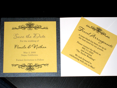 Ornamental Black, Yellow And White Invitations-1