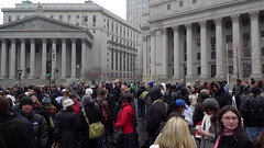 Foley Square with lots of pants.
