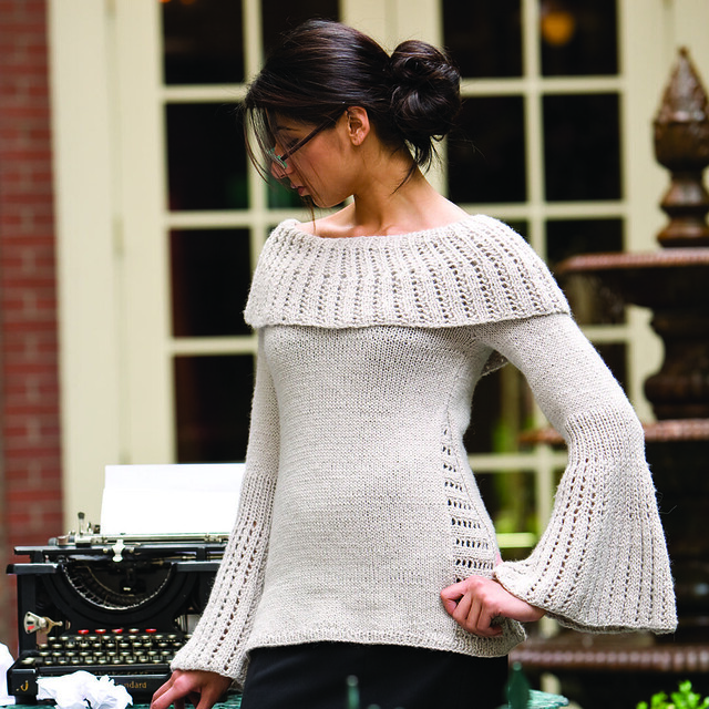 French Girl Knits Sweater Bell Sleeves