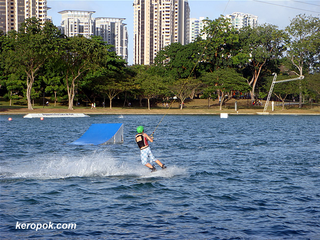 Wakeboarding at East Coast Park