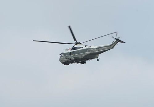 George Bush en helicóptero 2009