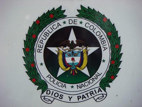 Policia Nacional sticker. Pereira, Colombia.