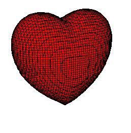 Corazón rojo en 3D-1