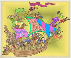 The Funtastic Ship of Hanna Barbera: Ode to Saturday Morning Cartoons! (slappy427) Tags: jonnyquest spaceghost scoobydoo 1970s lippy flintstones jetsons impossibles hongkongphooey muttley yogibear bettyrubble huckleberryhound fredflintstone barneyrubble hannabarbera johnnyquest penelopepitstop topcat dynomutt saturdaymorningcartoons wilmaflintstone snagglepuss dickdastardly atomant 1960s quickdrawmcgraw bluefalcon laffalympics biskitts winniewitch pebblesandbammbamm dinoflintstone lionhokey wolfspeed buggypaw ruggtouche turtlepeter potamuspenelope