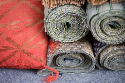 tatami and cushions thrown out