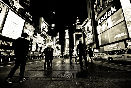 Time square B&W-17