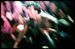 Lux Interior of The Cramps, dives into the audience at Mabuhay Gardens, San Francisco, 1978. (p0ps Harlow) Tags: sanfrancisco punkrock 1979 lux mabuhaygardens cramps mabuhay thecramps luxinterior fabmab p0ps