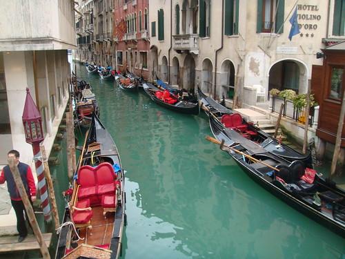 Gondolas del Hotel Bauer