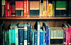 books2 (viyh) Tags: color colors book rainbow books case bookcase arranged roygbiv arrange arrangedbycolor arrangebycolor
