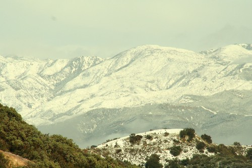 santa barbara snow, mountains