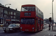 DMS1452 in Barking APR80 (2E0MCA) Tags: red england bus london transport daimler fleetline mcw