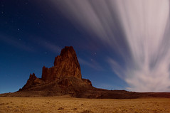 Agathla Revisited, Arizona (Tyler Westcott) Tags: longexposure arizona night clouds explore elcapitan navajotribalpark agathla nikond90 xboxliveftw whatsyourgamertag