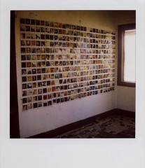 EPIC Polaroid wall.... (~KIM~) Tags: polaroid slr680 680 polaroidwall polaroidhouse