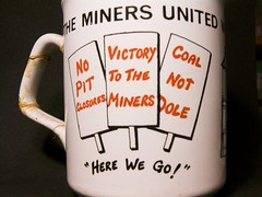 The miners united will.. (rikj) Tags: maggie 1984 coal num margaretthatcher dole olympusc8080 minersstrike rikj sanitasperevolo