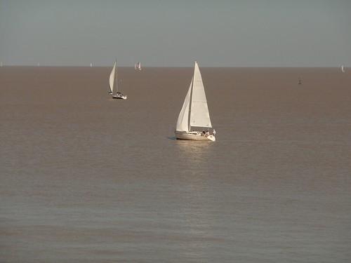 Barche sul Rio de La Plata