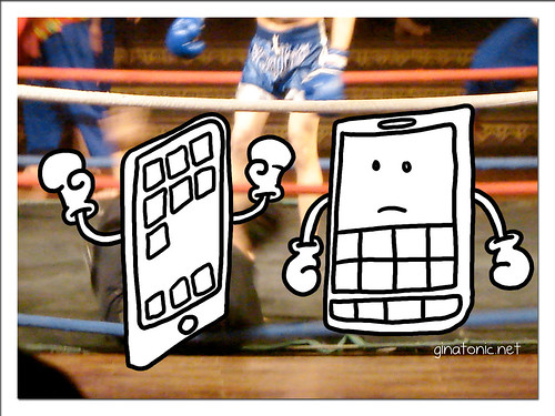 iphone blackberry lucha