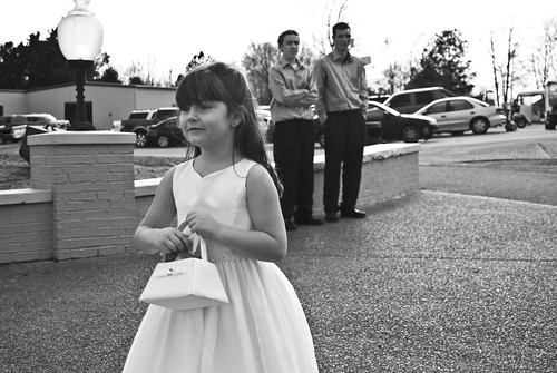 Gracie down the aisle