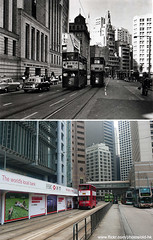 -  1963 (HK Man ()) Tags: old hk hongkong central  thenandnow oldhk   oldhongkong