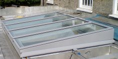 PEP-483-Fully Retracting Mono Pitch Fully Retracting Glazed Roof For  Roof Access