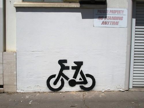 bike stencil.