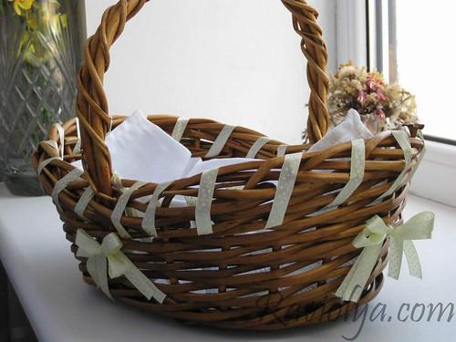 Фото украшение Пасхальной корзины