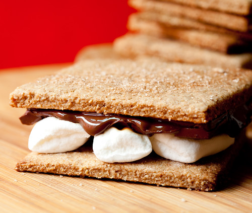 S'mores with Homemade Graham Crackers and Dandies