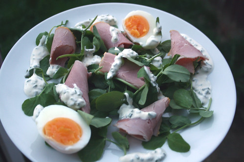 Ham, Egg and Pea Shoot Salad 2
